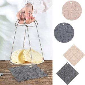 Termoresistente presina in silicone isolante Trivet Mat POGGIAMESTOLO flessibile Coaster Vassoio antiscivolo Table Placemat Pad Accessori Cucina