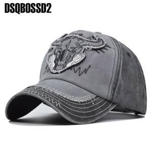 모자 리바운드를 하이킹 DSQBOSSD2 여름 새로운 모자 황소 머리 복고풍 스포츠면 캡 캐주얼 야구 모자 남성과 조정 가능한 여성을 세척