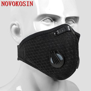 Unisex Outdoor Protection Cardon Halter Neck Mask Men Women Cycling Warm Anti Haze Windproof Active Carbon Filter Mask With Valve