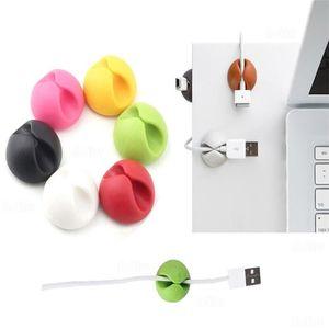 케이블 와인 더 주최자 케이블 클립 데스크 깔끔한 주최자 와이어 코드 USB 충전기 코드 홀더 주최자 홀더 안전 표