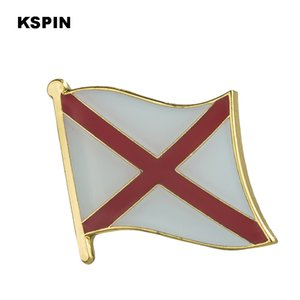 USA Alabama State Badges Flagge Abzeichen Flagge Lapal Pin auf Rucksack Pins für Kleidung 1PC XY0196