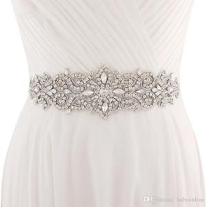 2020 Handmade Branco Marfim Belt para vestidos de noiva frisada de cristal casamento Sash Acessórios Wedding Rhinestone nupcial Sash CPA1222