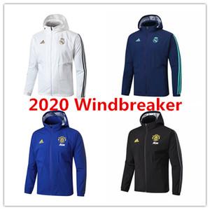 2020 Real Madrid mens uomo Giacche unito ronaldo Pogba hoodie tute da calcio Rashford Bale Hazard cappotto di calcio RMA antivento vestiti