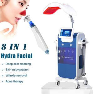 luces multifuncional Hydra agua terapia facial dermoabrasión descamación de piel microdermabrasión diamante tejido facial máquina PDT LED