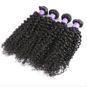 Weave Bundles Kinky Curly Human Hair 3 Bundles Raw Virgin Hair Extension