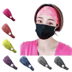 Hot Selling Elastic Mask Anti-Le Button Hairband Fitness Yoga Sports Headband Sweat Band Spot Headband Hairband