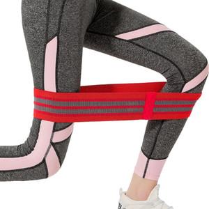 Yoga Spannung elastischer Gürtel Hüfte Widerstand Band Squat elastischen Anti-Rutsch-schöne Hüfte Yoga Widerstand Bands Fitness Übungs-Bänder LJJA4007