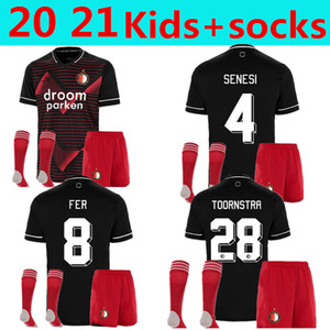 Niños Kit + calcetines Feyenoord Juvenil Berghuis Jersey Kits Conjunto de la camisa de fútbol PERSIE JORGENSEN Toornstra KOKCU FER JOHNSTON SENESI BOZENIK Fútbol