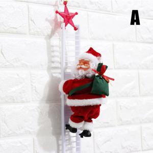 Yüksek Kalite Noel Baba Süsleme Noel Dekorasyon VE Santa Claus Oyuncak Tırmanma Elektrik Merdiven Singing