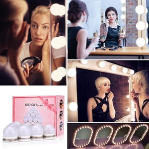 Led Vanity espelho de maquiagem lâmpadas Kit 30 tipos de Brilho Hollywood Vestir Lamp Cosméticos Mesa Regulável parede 10 lâmpadas