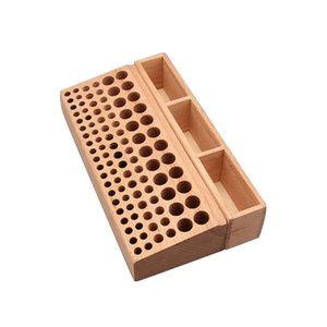 Woodworking For Drill Bits Free Standing Multi Holes Step Punch Instruments Beech Left Tools Holder