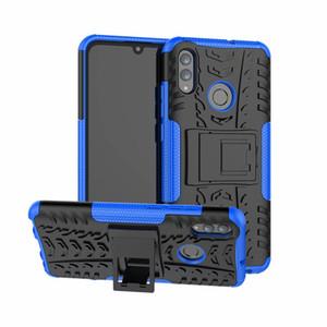 Pour Huawei P intelligent 2019 / Honor 10 Lite Nova 3 3i / 9C honneur 9S dur étui souple TPU hybride Armure Protection silicone caoutchouc Support Shell Cover