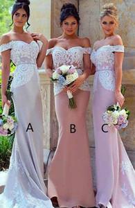 Blus Sexy Rose épaules Taille Plus demoiselle d'honneur robes longues d'Afrique robe formelle soirée élégante Robes formelles 2019