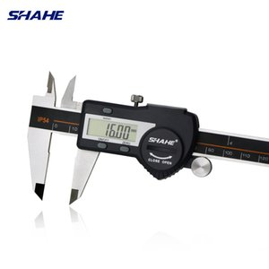 Shahé acero inoxidable endurecido 0-150 mm Digital calibrador Vernier calibrador electrónico Messschieber Micrometro T200602