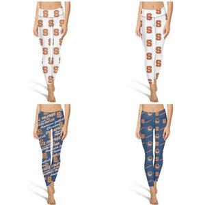 Spor Tozluklar Syracuse Orange için uygundur Syracuse Orange Basketbol mavi Moda Kadınlar Vintage Yoga pantolonları Esneklik Günlük Yumuşak