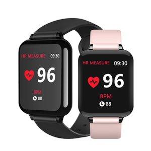 B57 inteligente relojes deportivos a prueba de agua para el teléfono iPhone SmartWatch monitor de ritmo cardíaco Funciones de la presión arterial de las mujeres hombres pulsera chico inteligente