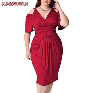 RAISEVERN Fashion Women V Neck Dress Summer Dresses Women 2019 Dresses Woman Party Night Plus Size Elegant Large Size Dress
