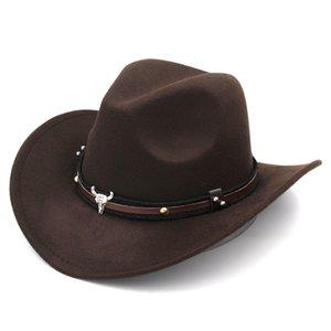 Cute Kid Baby Girl Boy Western Wool Cowboy Hat Children Wide Brim Fedora Jazz Cap