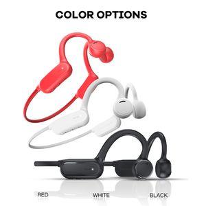 Stereo condução óssea Fones de ouvido Bluetooth sem fio Headsets 6D Sports Headband Apoia impermeáveis Siri para iPhone com microfone Driving