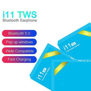 I11 TWS 5.0 auricolare auricolari senza fili auricolare bluetooth per cuffie PK i7s i9s i10 i11 i12 inpods 12 i18 i88 i100 i200 i500