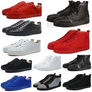Nuovo 2020 Designer Sneakers fondo rosso scarpa Low Cut Suede spike scarpe di Lusso Per Gli Uomini E Le Donne Scarpe Da Sposa Partito Sneakers In Pelle