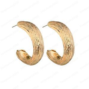 Neue modische Elegent Ohrringe für Frauen Gold / Silber-Metall Big Round Female Brincos Statement Earring femme
