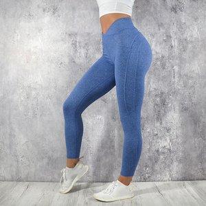 Frauen Sportbekleidung Freizeitsport Bodybuilding Ruched Legging Fitness-Bekleidung Sportlich Jegging Push-Up High Taillengamaschen S-XL