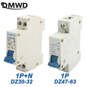 Breakers Mini disjoncteur DPN mini DZ30-32 1P + N DZ47-63 1P 16A 220V 230V 50 Hz 60 Hz Disjoncteur RAIL DIN rapide