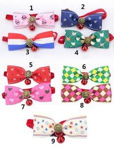 Copricapo per cani Cravatta per cani Cravatta per cani Cravatta per gatti Pet grooming Supplies Multicolor Wholesale shipping