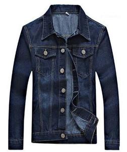 Designer Button Jeans Giacche Pocket Moda Uomo Abbigliamento Moto lunghe maniche del vestito casual Abbigliamento Uomo Autumm