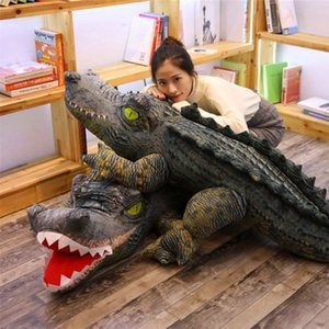 Simülasyon Hayvan Timsah Peluş Oyuncak Boy Timsah Peluş Bebek Çirkin Komik Bebek Yastık Hediye Dekorasyon 120 cm EEA426