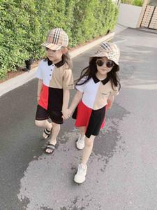 usar no verão de boneca algodão gola gola manga curta vestido de pequeno e médio porte vestido POLO das meninas
