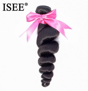 2020 New ISEE HAIR Brazilian Loose Wave 100% Human Hair Bundles Unprocessed Virgin Hair Extension Nature Color Free Shipping Can Be Dyed