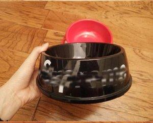 Yeni S Harf Pet Köpek Kedi Besleme Bowl Su Bulaşık Besleyici Plastik Yuvarlak Seyahat Piknik Yavru Teddy Besleyiciler Kedi Köpek Bağırsakları Pet Malzemeleri