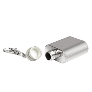1oz Mini Stainless Steel Hip Flask Alcohol Flagon with Keychain More OZ Liquor Hip Flask Kitchen ArtifactNew