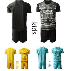 Kids Goalkeeper Soccer Jerseys 19 20 A.S.Roma Soccer kids KIT sets uniform Personalized Custom kids Football Jerseys