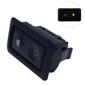 20A Elektrische Fensterheber-Schalter Taste Für Autos mit grüner LED-Licht-Auto-Taste Schalter 12V / 24V Auto Acessorie