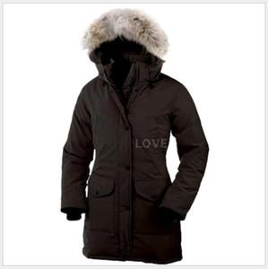 2019 Kanada markası Bayan Aşağı Parkas yeni kalın, sıcak ve ceket kadın kış 6 aşağı su geçirmez uzun bölüm ince düz renk kaz rüzgar geçirmez