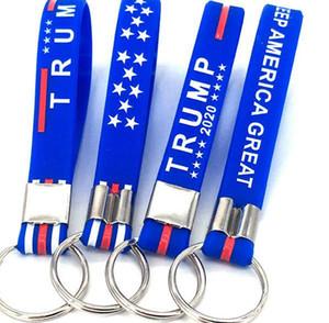 Президент Дональд Trump Keychain силиконовых Trump Keep America Отлично подходит для президента 2020 Silicone брелока партии подарок LJJK2039