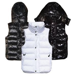 Gli uomini e le donne della moda inverno giù gilet giacche piuma weskit Mens delle donne casuali giubbotti cappotto giù ricopre incappucciato giubbotto