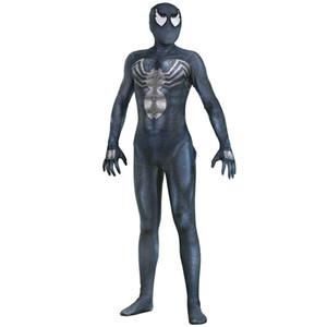Venom Spiderman Costumes Custom 3D Printed Symbiote Spider-Man Lycra Cosplay Costume Zentai Spidey Suit for Adults