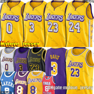 James 23 LeBron Jersey James Black Mamba Anthony 3 Davis Jerseys Kyle 0 Kuzma Earvin Johnson 32 Jersey Basketball Jerseys