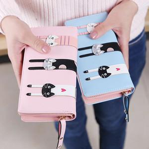 Mode für Frauen Lange Bifold Mappen-Damen PU-Leder-Geldbeutel weiblichen Tragbarer Tierdruck-Handtasche für Frauen Bank Card-Halter-Pack