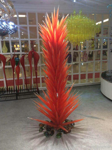 Hotel Großes 100% Hand geblasenem Glas Stehleuchten LED-Lichtquelle Spar Garden Park Conifer Glasskulptur