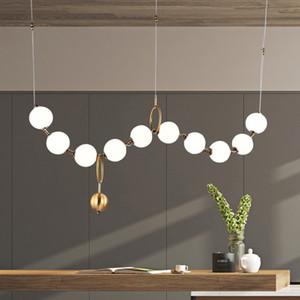 فاخر البساطة عقد من اللؤلؤ اللوبي الثريا فن الزجاج LightsLiving غرفة نموذج معرض قاعة الشخصية فقاعة مصابيح RW27