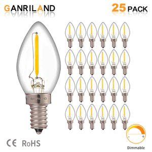 C7 Led Dim ampul E14 E12 0.5 w buzdolabı LED Filament ampul 2700 k 110 V 220 V avize Kolye Edison lambaları