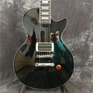 Горячая продажа LP электрическая гитара, гитара LP CUSTOM черный цвет и черный пикап GUITAR Бесплатная доставка в Китае