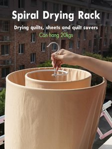 Circular Spiral Sheets Quilt Hanger Drying Racks Rotation Mono- Balcony Drying Racks