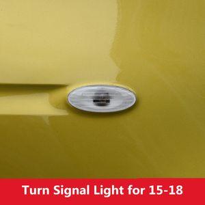 White Car Side Plate Wing Fender Turn Signal Light بدون لمبة for Smart fortwo forfour 2015 2016 2017 2018