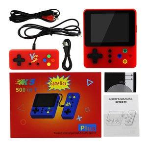 Handspiel-Konsole K5 K8 SUP Mini Retro Nostalgie 500 in 1 Doppel-Spieler mit Gamepad Protable Spielkonsole Videospiel Box